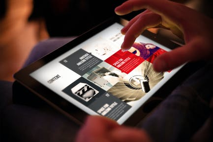 Design Magazine 3 for Tablet Indesign Template