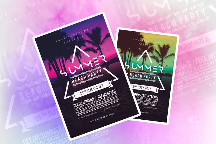 Thumbnail for Summer Beach Party Flyer