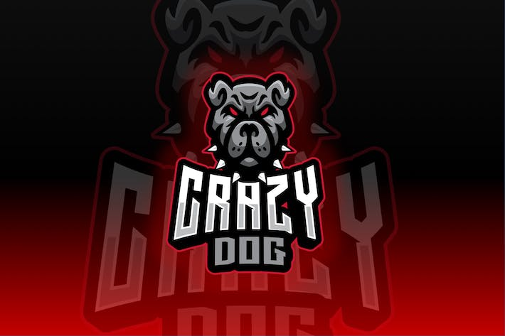Thumbnail for Crazy Dog Sport and Esport Logo Template