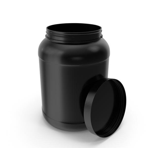 Botellas de Plástico Boca Ancha 2 Galones Negro Abierto