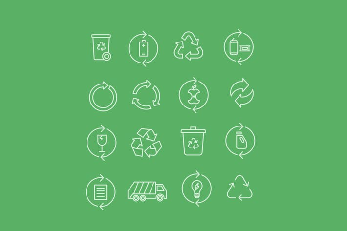 Thumbnail for 16 Recycling Icons