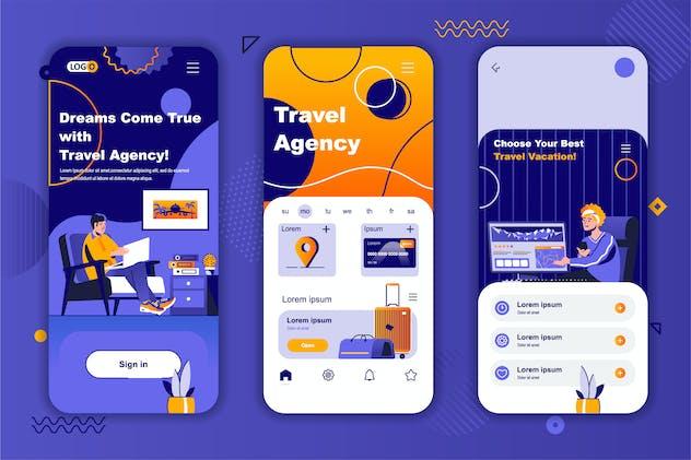 Travel Agency Instagram Stories Onboarding Screens