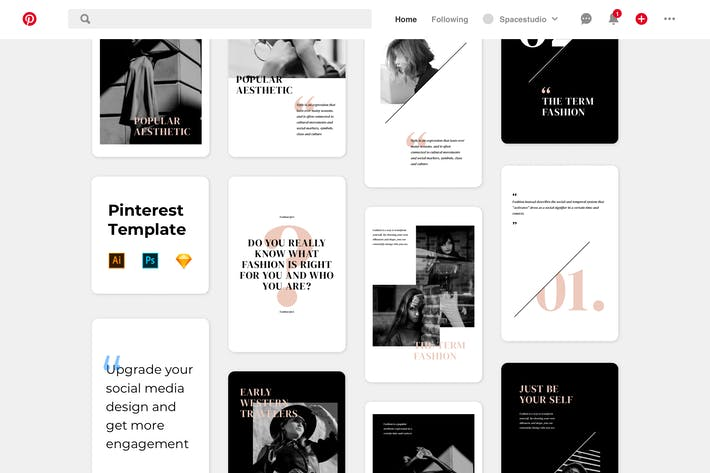 Thumbnail for Fashion Pinterest Template