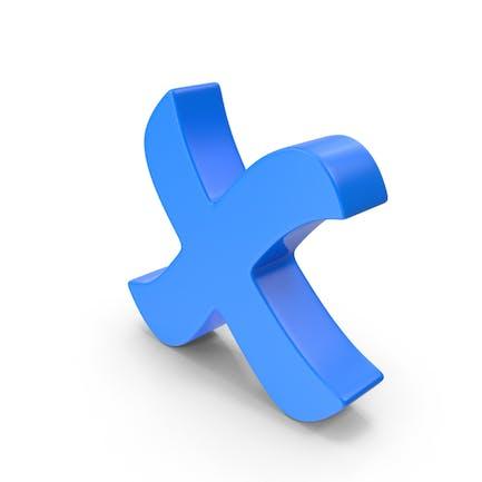 Kreuz Mark Blau