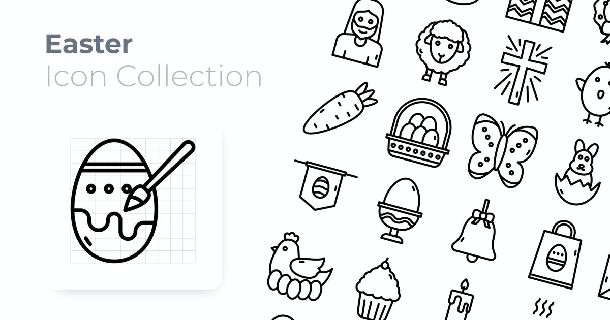 Download Easter Outline Icon by GoodWare_Std