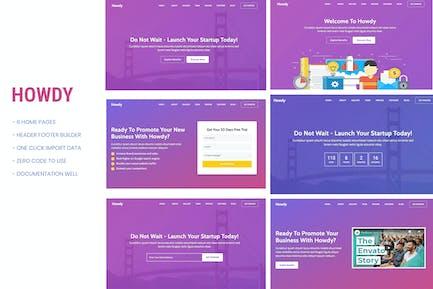 Howdy - Multipurpose Landing Page WordPress Theme