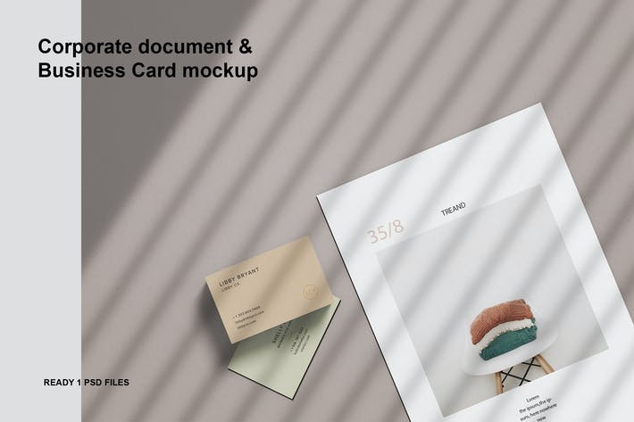 Thumbnail for Corporate document & Business Card mockup