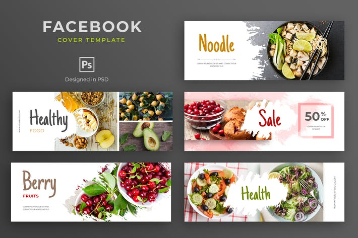 Thumbnail for Healthy Food Facebook Cover Template