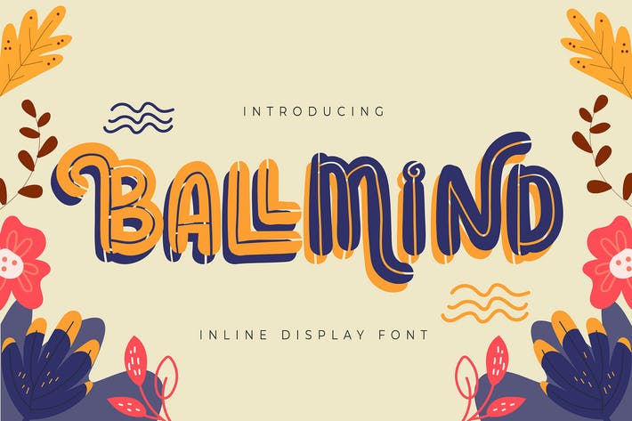 Ballmind | Inline Display Font