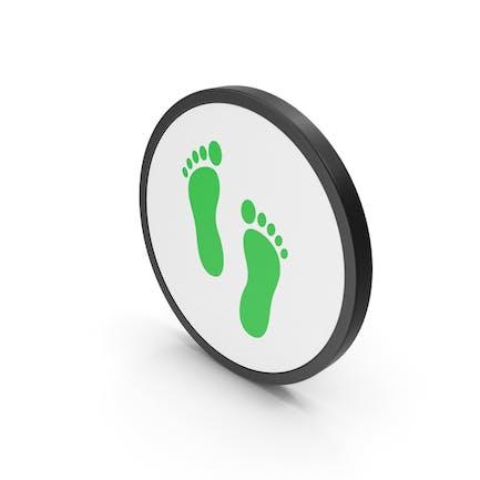 Icon Footprint Green