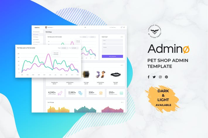 Cover Image For Pet Shop Admin Dashboard UI Kit