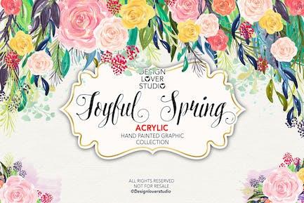 Acrylic JOYFUL SPRING design 2