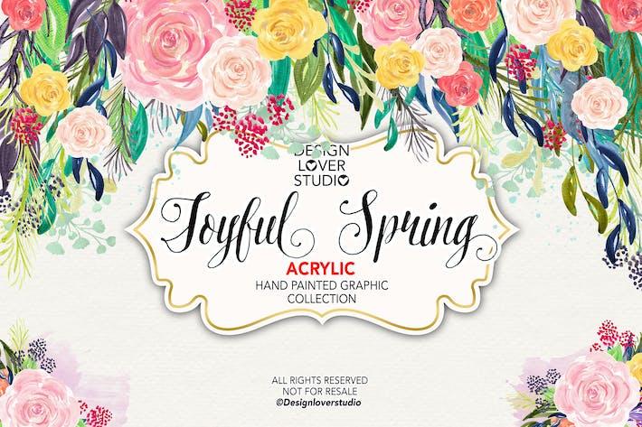 Thumbnail for Acrylic JOYFUL SPRING design 2