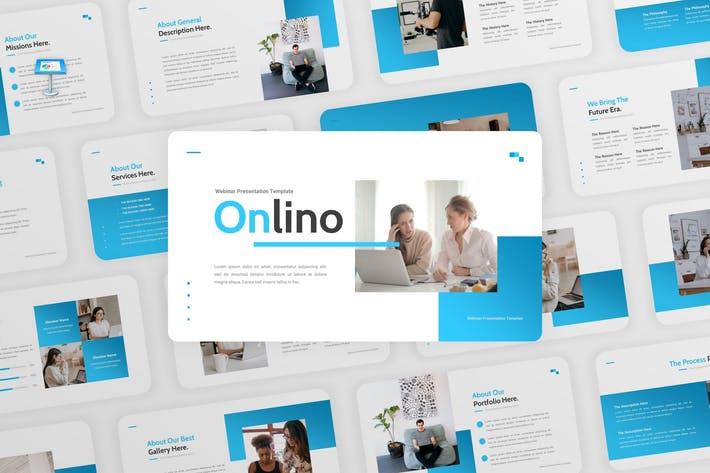 Thumbnail for Onlino - Webinar Business Keynote Template