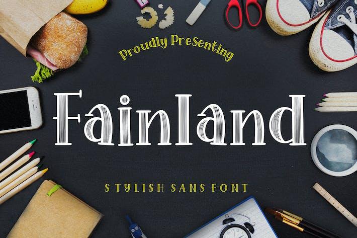 Thumbnail for Fainland Stylish Sans