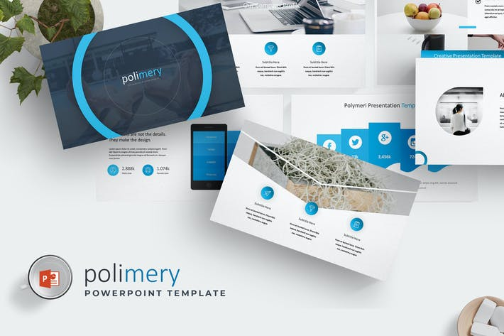 Thumbnail for Polimery - Powerpoint Template