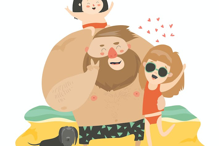 Thumbnail for Happy family at the beach