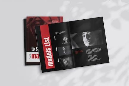Red Fashion Magazine Template