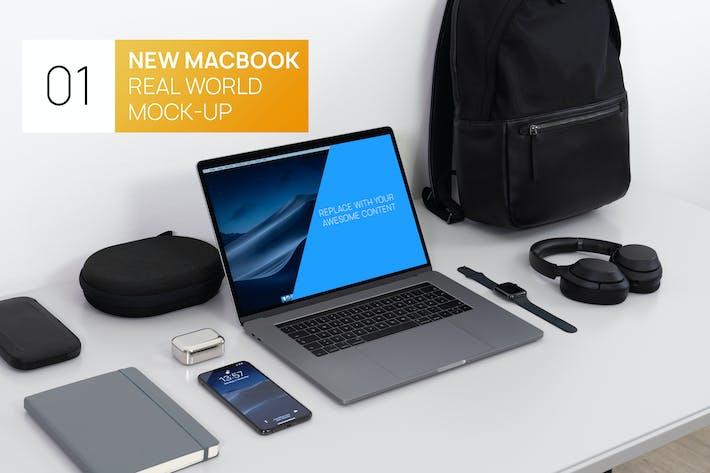 Thumbnail for Nuevo MacBook 15 Touchbar Real World Photo Mock-up