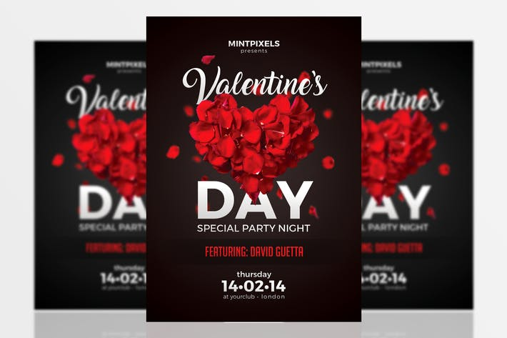 Valentinstag Party A5 Flyer