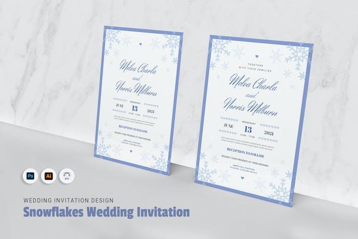 Thumbnail for Flocones de neige invitation de mariage