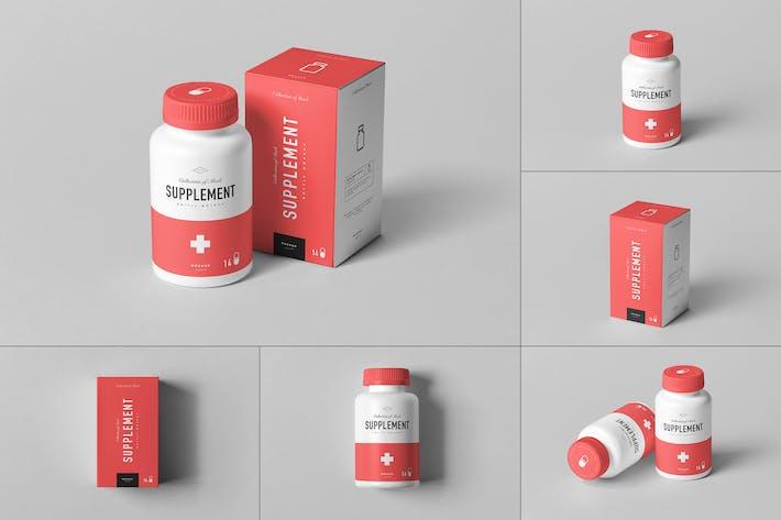 Supplement Jar & Box Mock-up 6
