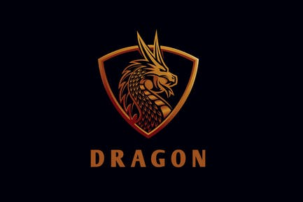 Intimidating Dragon Logo
