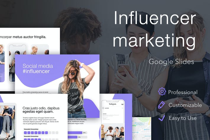 Thumbnail for Influencer Marketing Google Slides