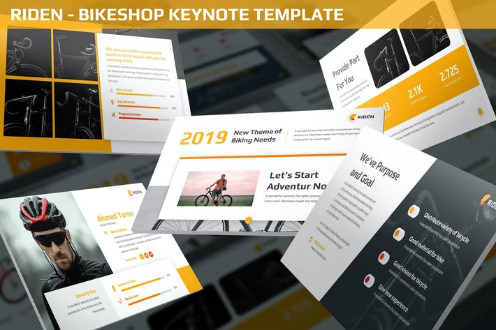 Thumbnail for Riden - Bikeshop Keynote Template