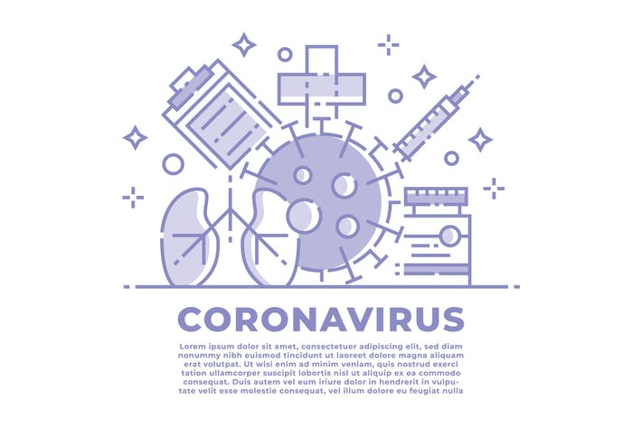Thumbnail for Coronavirus Linear Illustration