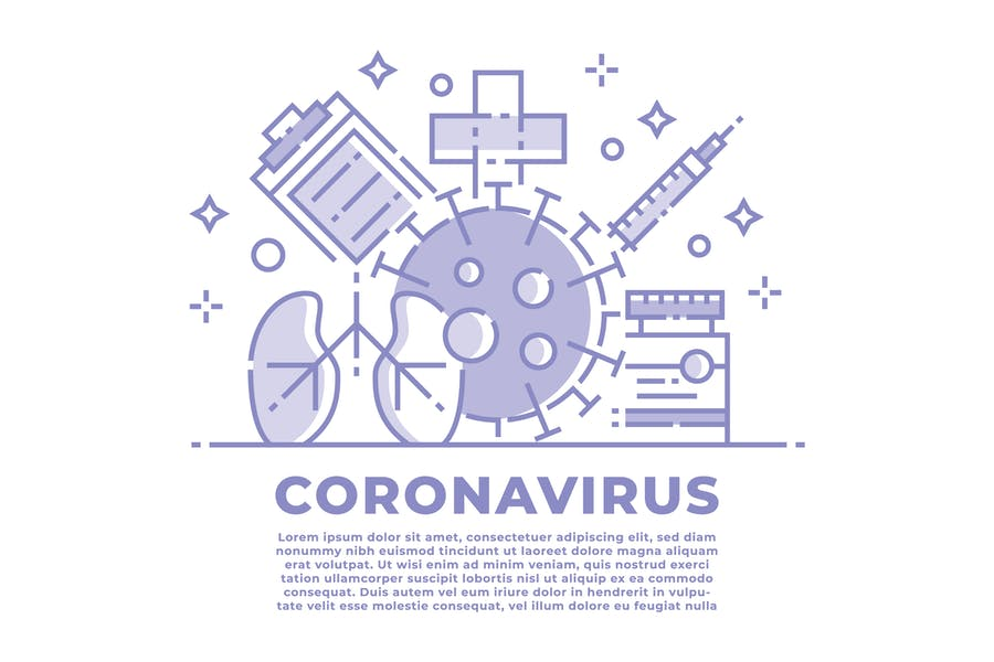 Coronavirus Linear Illustration