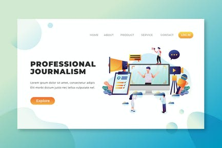 Professional Journalism - PSD and AI Landing Page