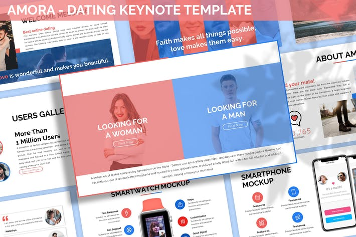 Thumbnail for Amora - Dating Keynote Template