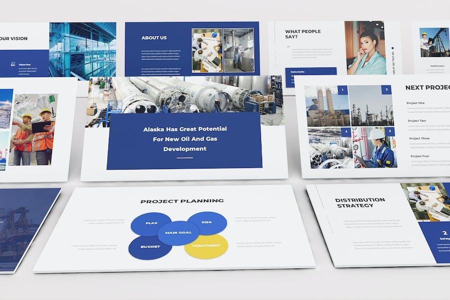 Oil & Gas Google Slide Presentation Template