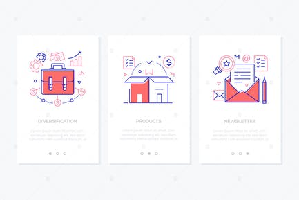 Business and finance - line design style banners