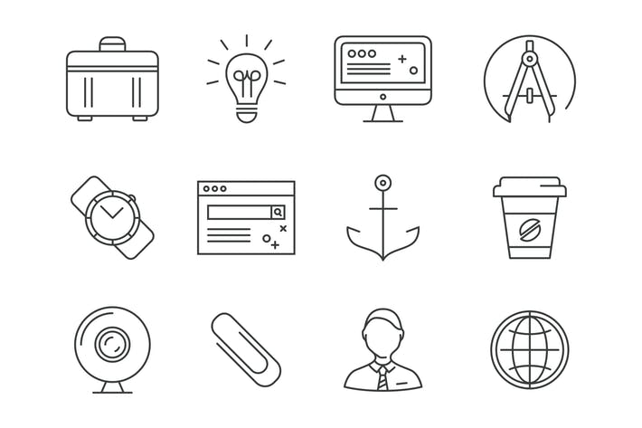 Thumbnail for Line Office Icons