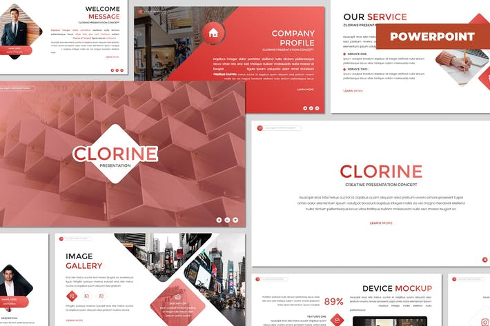 Clorine - Многоцелевой Шаблон Powerpoint