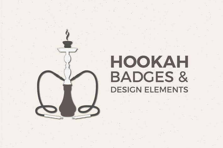 Thumbnail for Vintage Hookah Badges & Retro Logo Collection