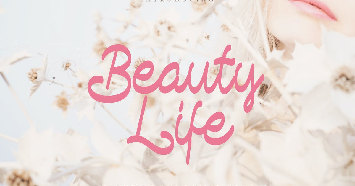 Download Beauty Life - Romantic Handwritten Script by naulicrea