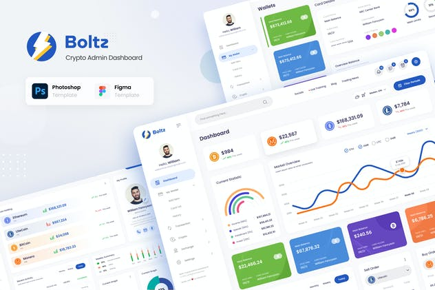 Boltz - Crypto Admin Panel Dashboard UI Template - product preview 0