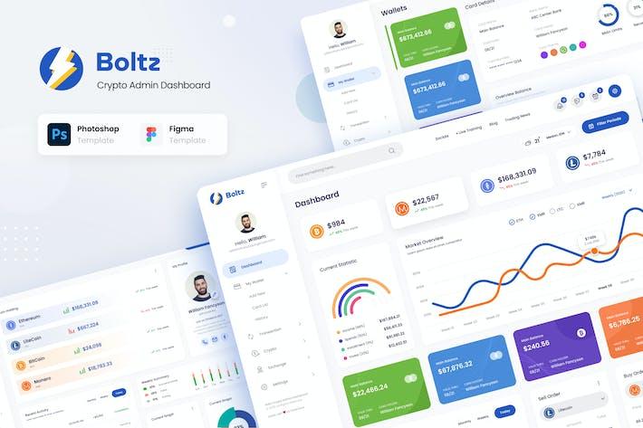 Thumbnail for Boltz - Crypto Admin Panel Dashboard UI Template
