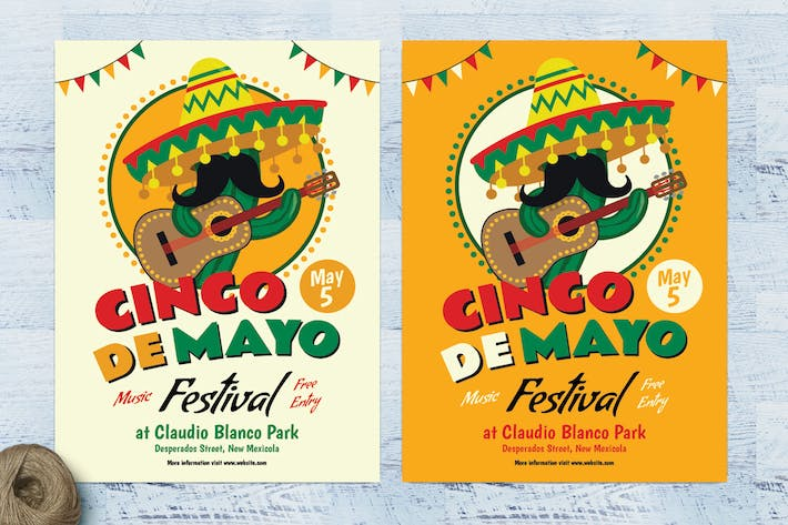 Thumbnail for Cinco De Mayo Cactus Flyer