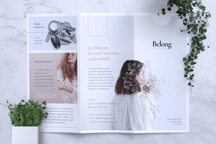 Thumbnail for BELONG Fashion Trifold Flyer