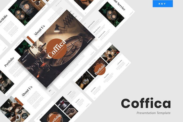 Thumbnail for Coffica - Coffee Lovers Keynote Template