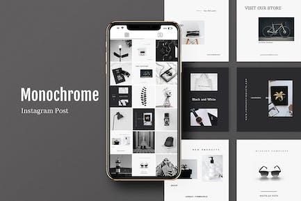 Monochrome Instagram Post