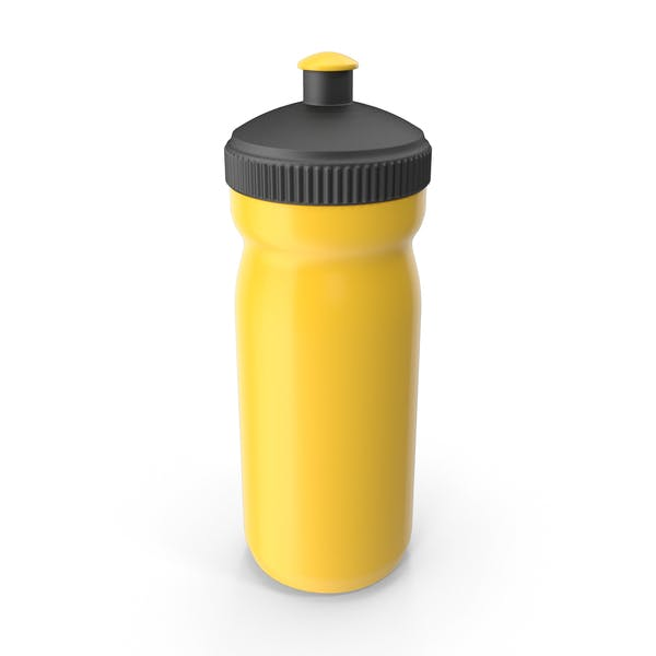 Yellow Sport Bottle with Black Cap