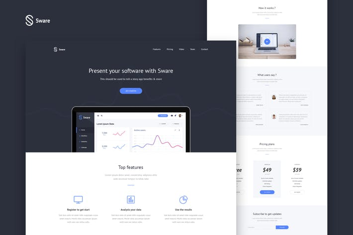 Thumbnail for Sware SaaS & Software Landing HTML5 Page Template