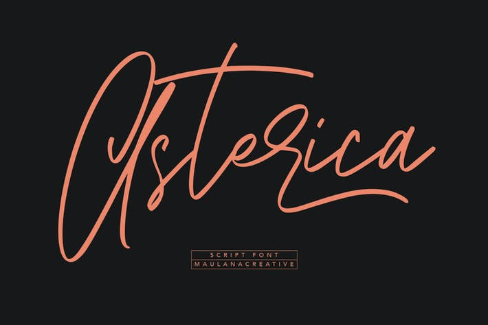 Thumbnail for Asterica Signature Script Font