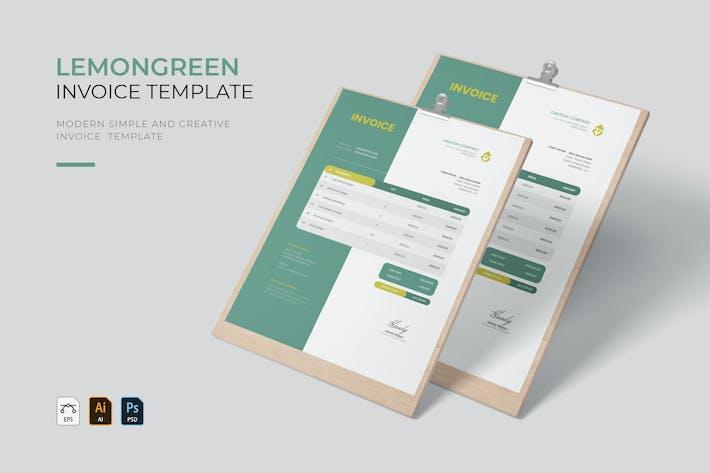 Thumbnail for Lemon Green Business | Invoice
