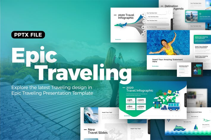 Thumbnail for Epic Traveling Powerpoint Presentation Template
